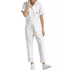 NWT Dickies White Overall Coveralls Jumpsuit Raw